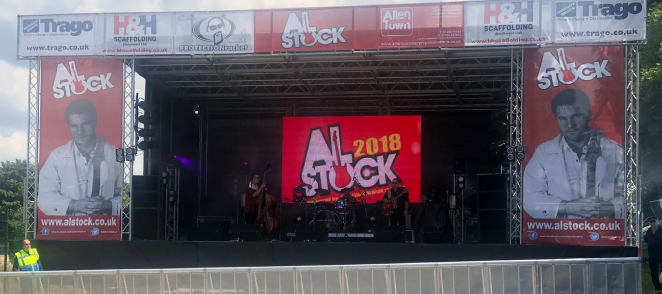 LED Screen Hire at Alstock Live music event