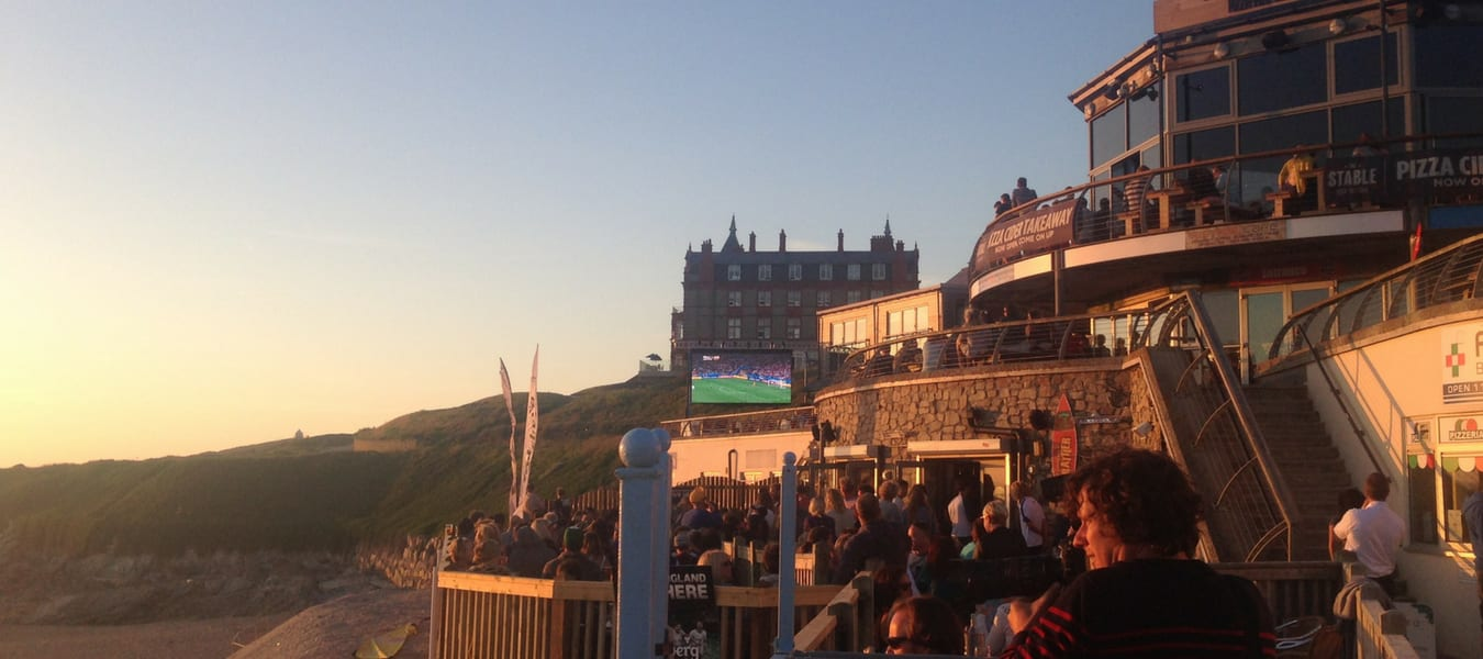 Live video LED screen Hire Fistral Beach