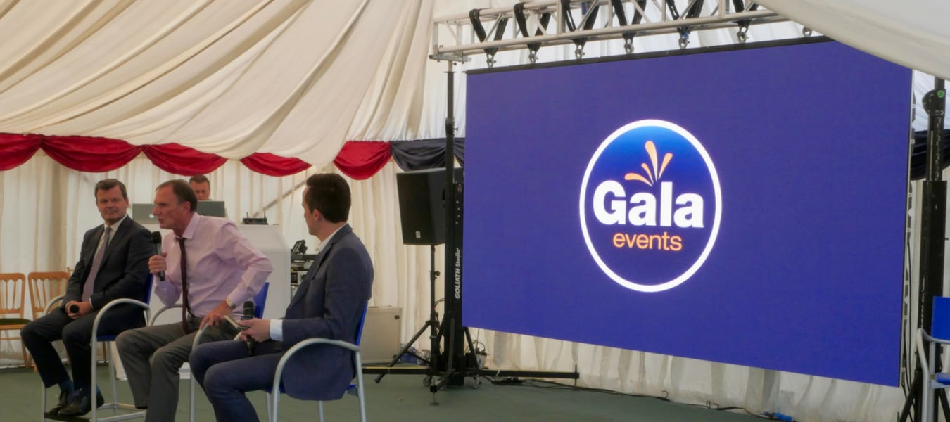 Sporting Event LED Screen hire with Gala Events